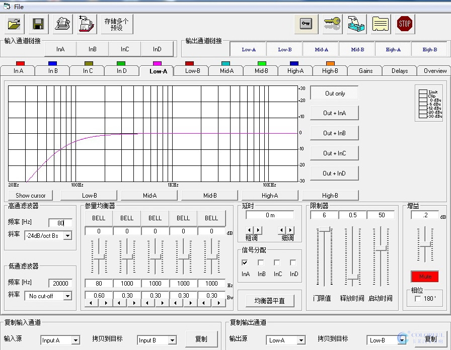 卡莱数字音频处理器x-0ver